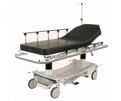 Intensive care stretcher trolley / transport / hydraulic / 2-section