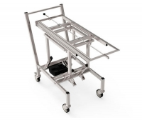 Loading trolley / unloading / stainless steel / electric