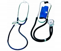 Dual-head stethoscope / general medicine / metal