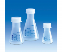 Erlenmeyer flasks, PP with PP screw cap