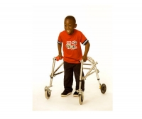 4-caster rollator / height-adjustable / folding / pediatric