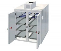 Mortuary stretcher refrigerated mortuary cabinet / front-loading / 8-body