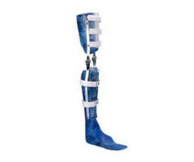 Knee, ankle and foot orthosis (KAFO) / articulated / pediatric