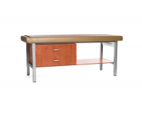 Fixed-height examination table / with storage unit / 1-section