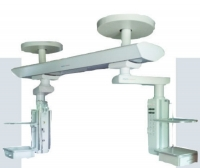 Ceiling-mounted supply beam system / with shelves / articulated