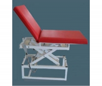Electric examination table / with adjustable backrest / height-adjustable / 2-section