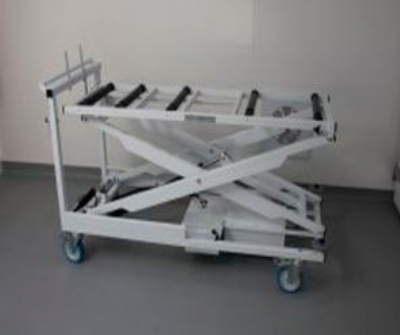 Embalming trolley / loading / mortuary / electric